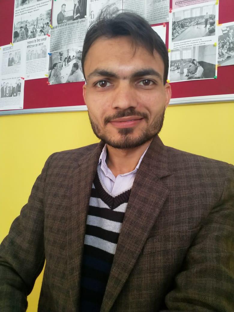 Mr. Ashish Pandey-Psychological Counsellor